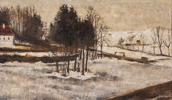 Střešovice v zimě