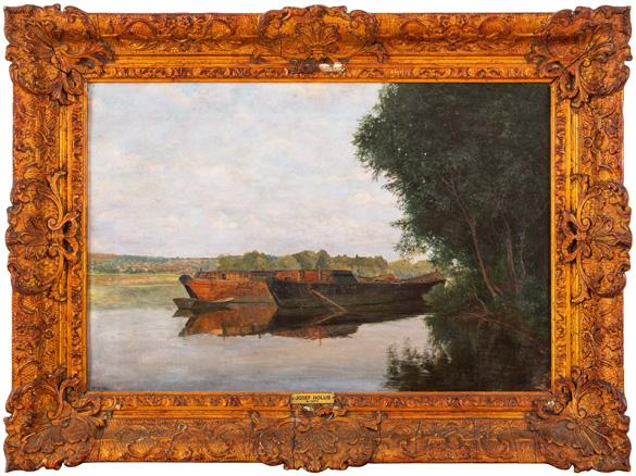 Holub Josef, Lodě na Vltavě (pískové lodě u Železničního mostu)