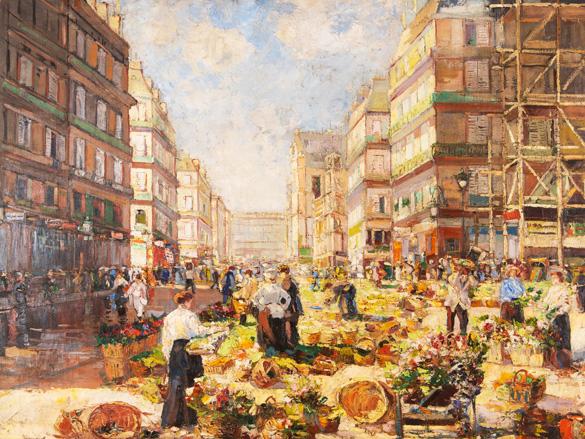 Lapchine Georges, Pařížský trh za slunečného dne