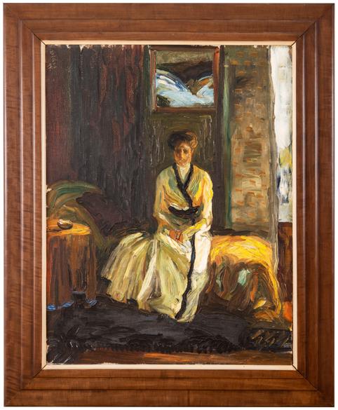 Hablik Wenzel August, Mladá dáma v interiéru