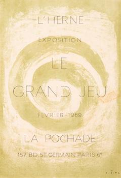 Plakát k výstavě Le Grand Jeu