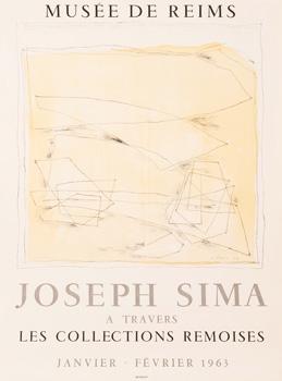 Plakát k výstavě Joseph Sima