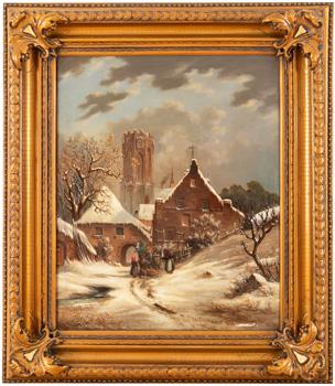 Zimní krajina s katedrálou