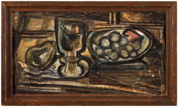 Zátiší s pohárem a ovocem