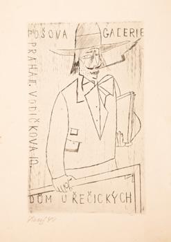 Pozvánka na výstavu F.Tichého v Pošově galerii