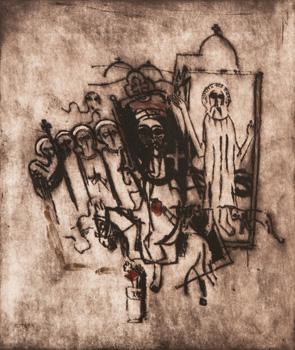 Egyptská deska I. (Svatí z pouštního kláštera)