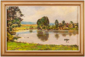 Krajina s rybníkem