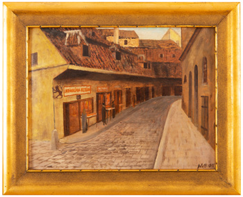 U synagogy (Pražské židovské město před asanací)