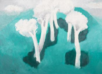 Bílé stromy